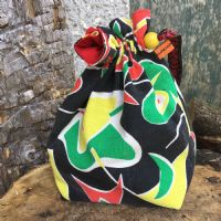 Vintage Fabric Knitting Bag - Bold